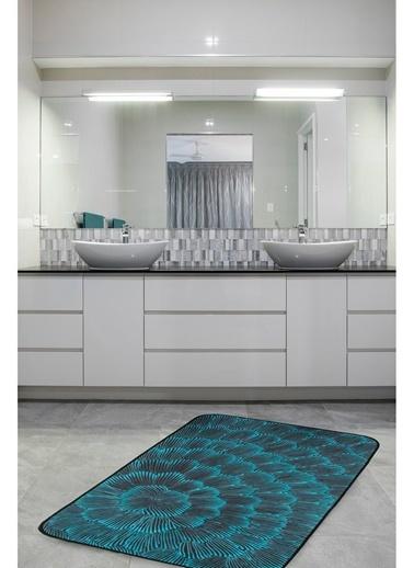 Hamur Nius 75x125 cm Banyo Paspası Kaymaz Taban Banyo Halısı Siyah